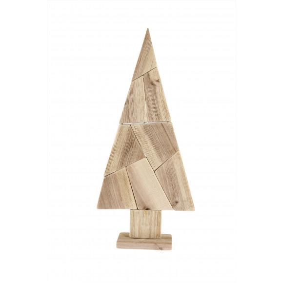 AVA selection Kerstboom Op Voet Hout 21x8,5x40cm Naturel Bruin