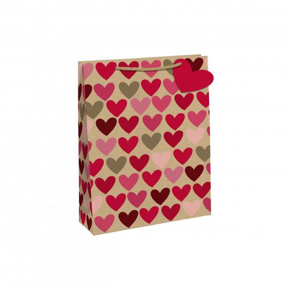 CLAIREFONTAINE Everyday Geschenkzak Hartjes 21,5x10,2x25,3cm