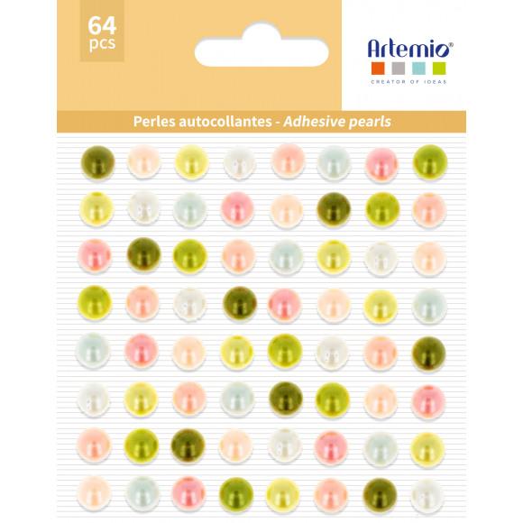 ARTEMIO Stickers Parels Ø 8mm 64 Stuks Meerdere