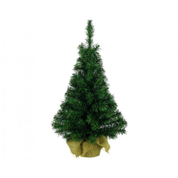 AVA selection Kerstboom 90cm Groen In Jute Zak Groen