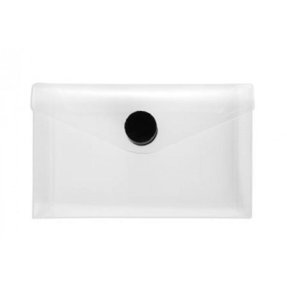 FOLDERSYS Enveloppe 105x65mm Transparent Avec Velcro