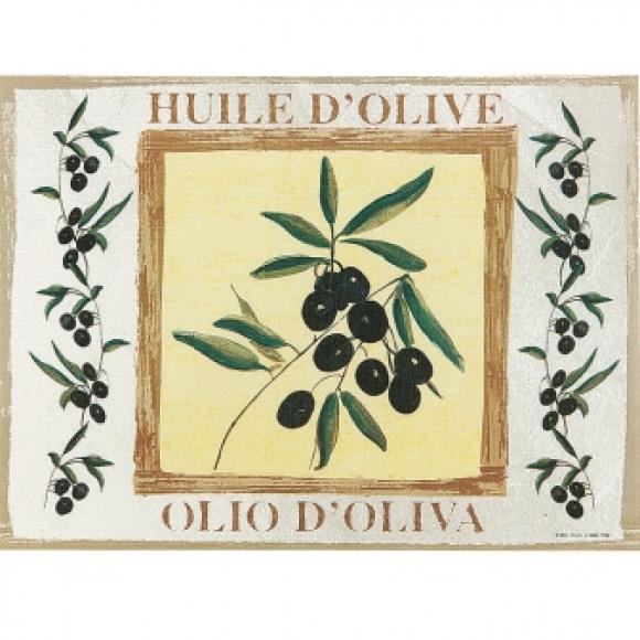 FIESTA Set De Table Dessin Olive 30x43cm 100 Pièces Dessin