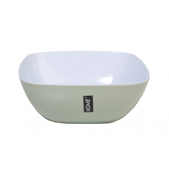 HOME+  HOME+ Kom Salade Melamine 23x23x9cm 2,55L Muntgroen
