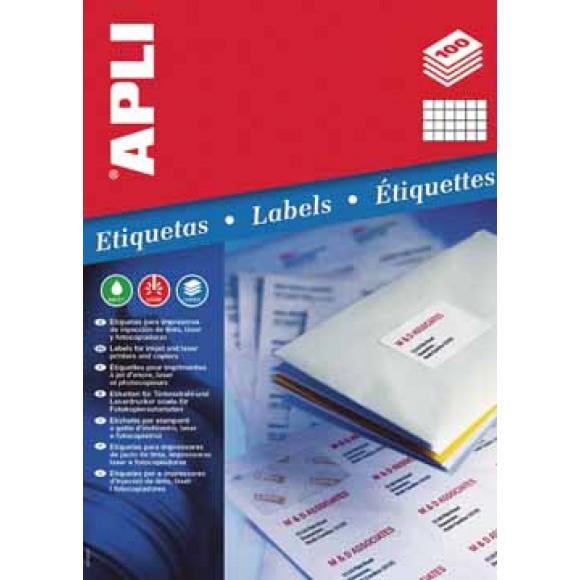 APLI Etiquettes 70x35mm I/L/C Blanc 100 Feuilles A4 2400 Pièces Blanc