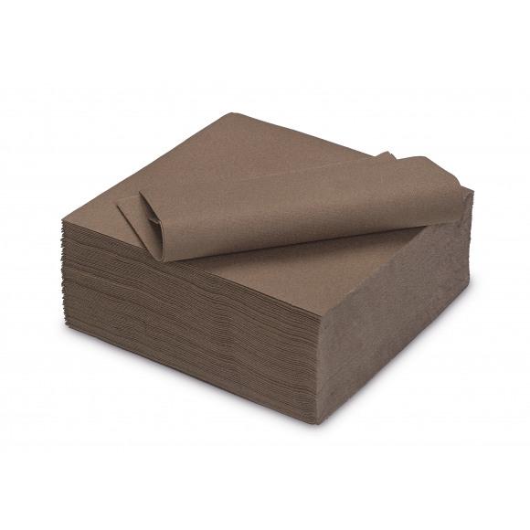 TABLESTAR serviette dîner unie sensation de lin carrée 40x40cm 50 pièces Brun