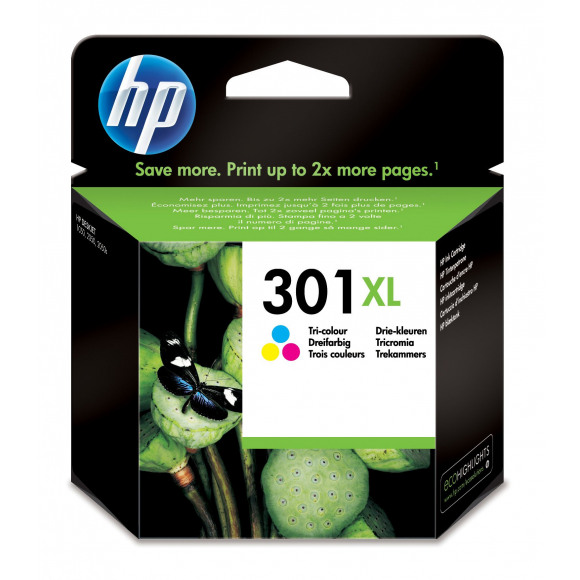 HP Inktcartridge 301XL Tricolor Meerdere