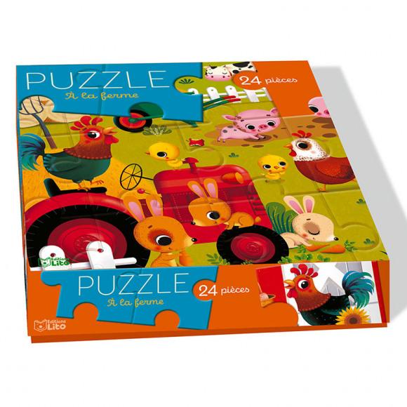 AVA selection Puzzel À La Ferme 24 Stukjes 17x17cm