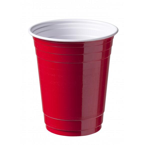 DEPA Gobelet Party Cup Rouge 300Cc 12Oz Ps 50 Pièces Rouge