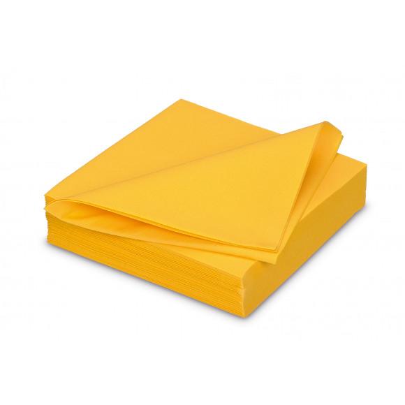 GALA Serviette Dîner Uni Passion Yellow Sensation De Lin 40x40cm 25 Pièces Jaune