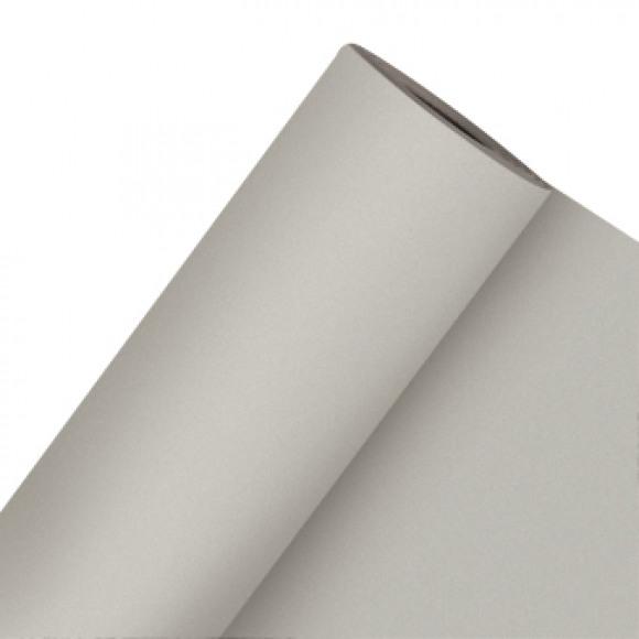 GALA Nappe En Rouleau Uni Aluminium Sensation De Lin 25mx120cm Noir/gris