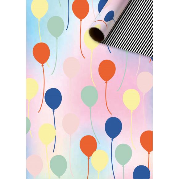 STEWO Inpakpapier Multicolor Ballo 150x70cm Rood