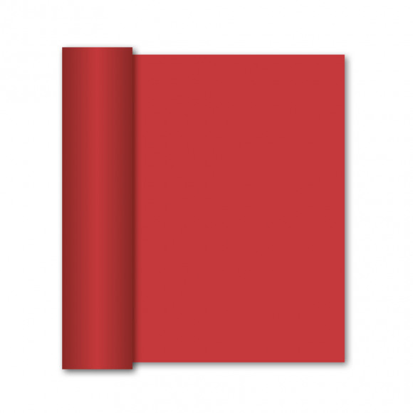 GALA Chemin De Table Uni Red Sensation De Lin 10mx40cm Rouge