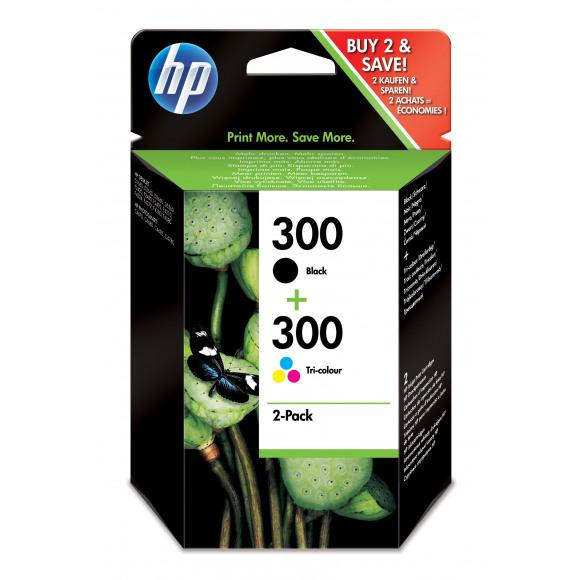 HP Cartouche 300 Noir+Tricouleur 2-Pack MEERDERE
