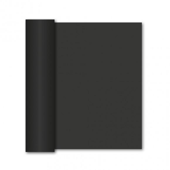 GALA Chemin De Table Uni Black Sensation De Lin 10mx40cm Noir/gris