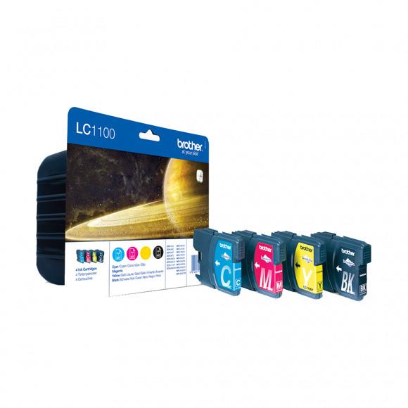 BROTHER Cartridge  Zwart + Tricolor Lc1100 Meerdere