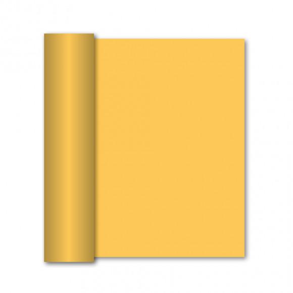 GALA Chemin De Table Uni Passion Yellow Sensation De Lin 10mx40cm Jaune