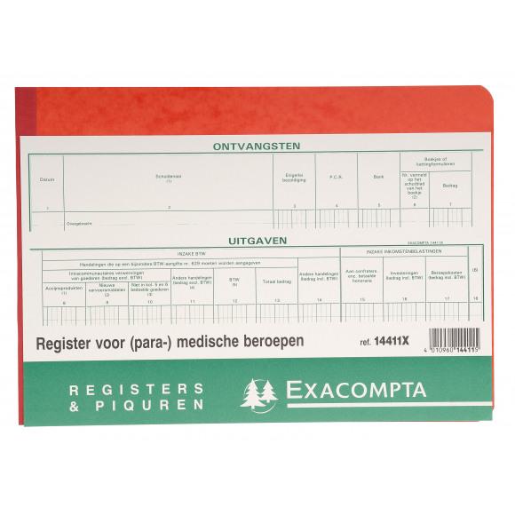 EXACOMPTA Piqûre Professions Libérales Non Assujetties A La TVA NL A4 60 Pages