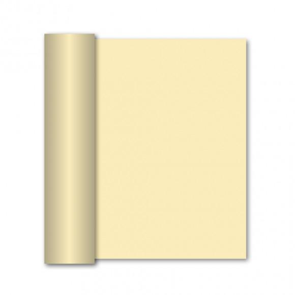 GALA Chemin De Table Uni Ecru Sensation De Lin 10m x 40cm Blanc