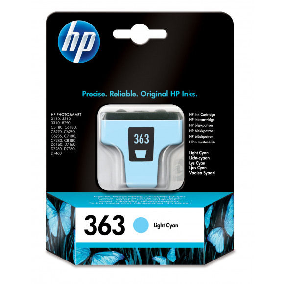 HP Cartridge 363 Licht Cyaan