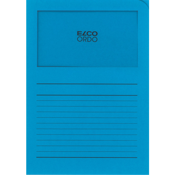 ELCO Ordo Classico Chemise A Fenêtre Papier 120g/m² Bleu Intense Bleu