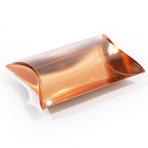 AVA selection Gondeldoosje Transparant + Rug Rose Gold 9x7x2,5cm 12 Stuks Andere