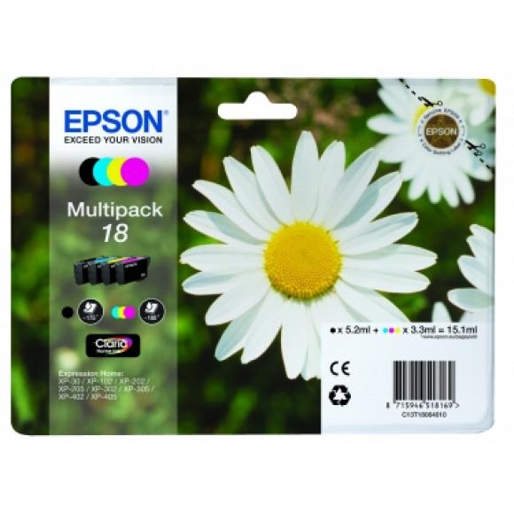 EPSON Cartouche 18 Noire + Tricolore Plusieurs