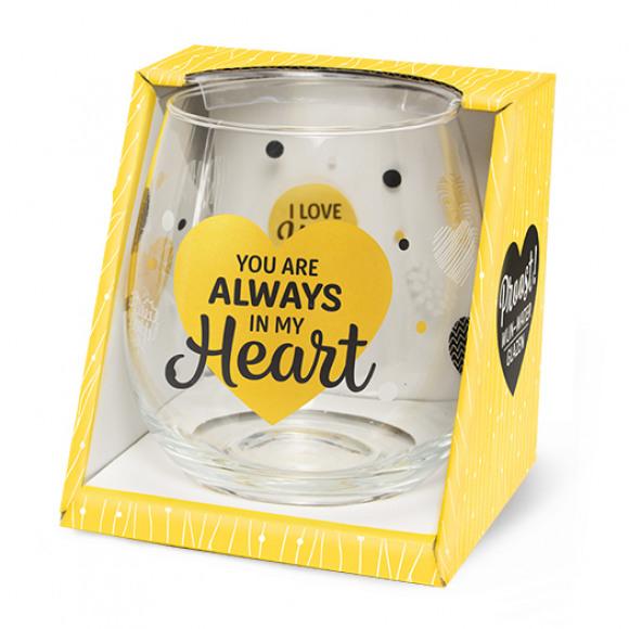 """AVA selection Verre D'Eau/De Vin Transparent """"You Are Always In My Heart"""" Autres"""