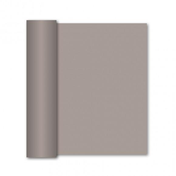 GALA Chemin De Table Uni Golden Grey Sensation De Lin 10mx40cm Noir/gris