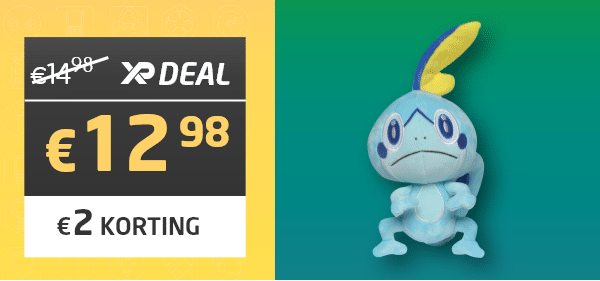 Pokémon - Sobble Pluche 20cm - Wicked Cool Toys