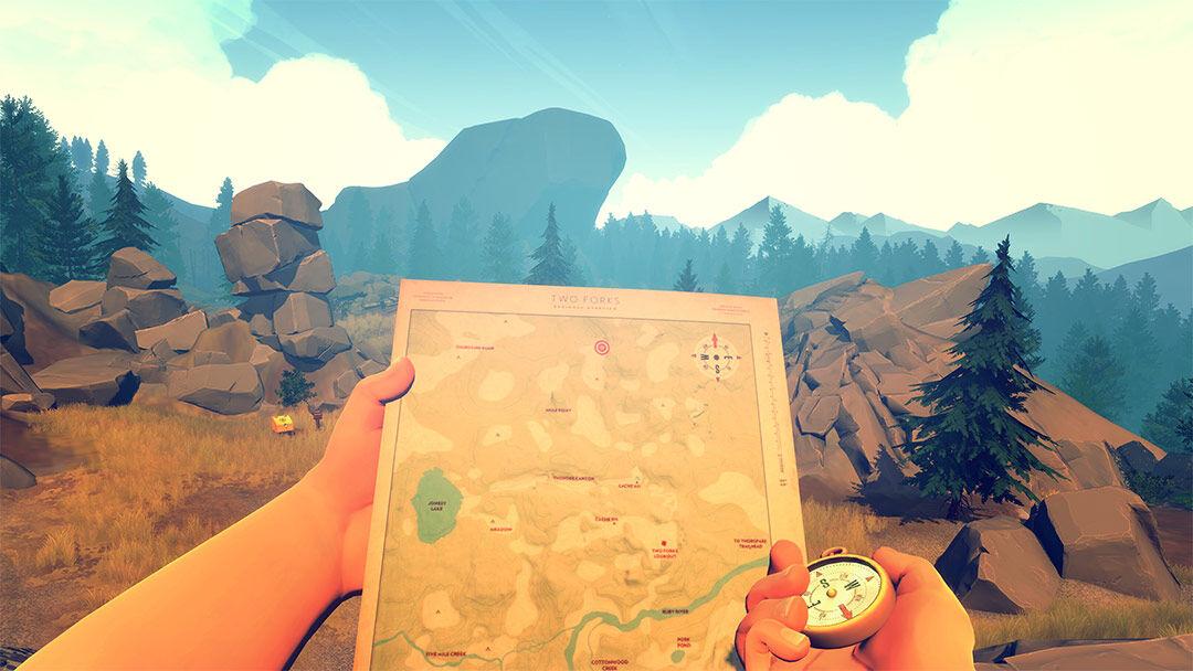 Screenshot van Firewatch