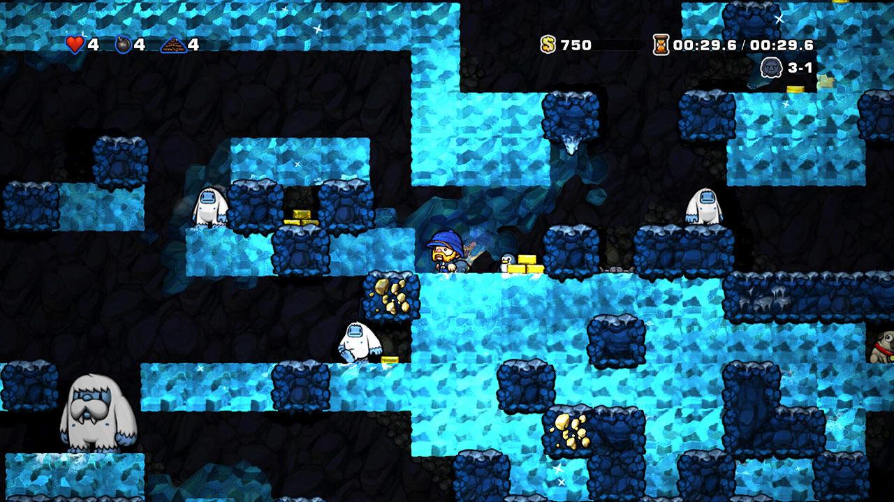 Screenshot van Spelunky
