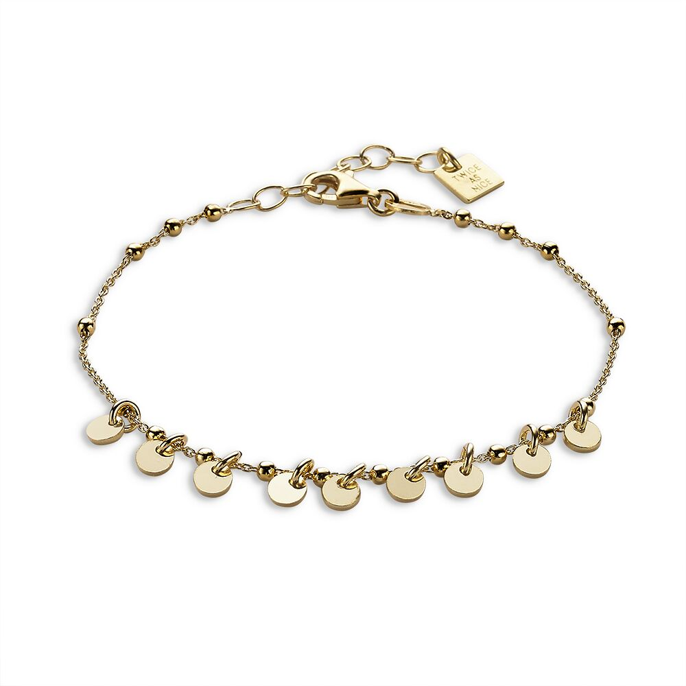 Gold plated bracelet from ball chain