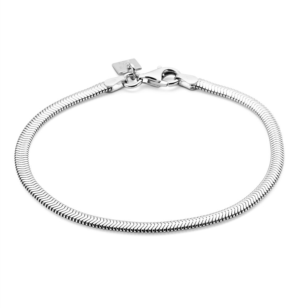 bracelet argent maille serpent