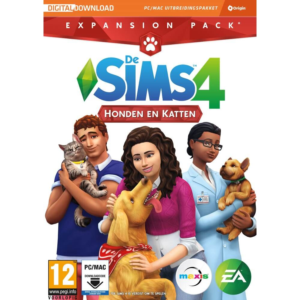 De Sims 4 Honden En Katten Expansion Pack Pc Cd Dvd Game Mania