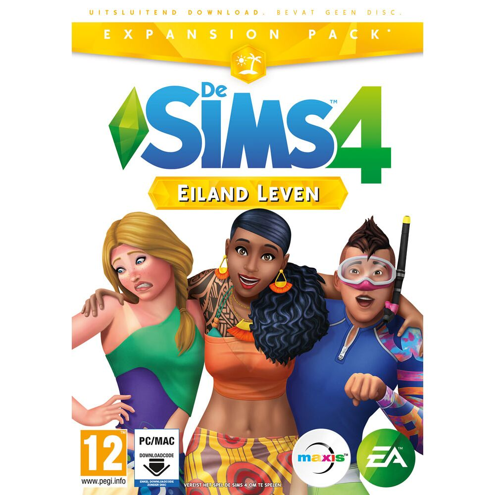 De Sims 4 Eiland Leven Expansion Pack Pc Cd Dvd Game Mania