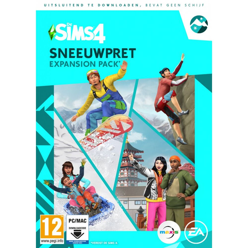 De Sims 4 Sneeuwpret Expansion Pack Pc Cd Dvd Game Mania