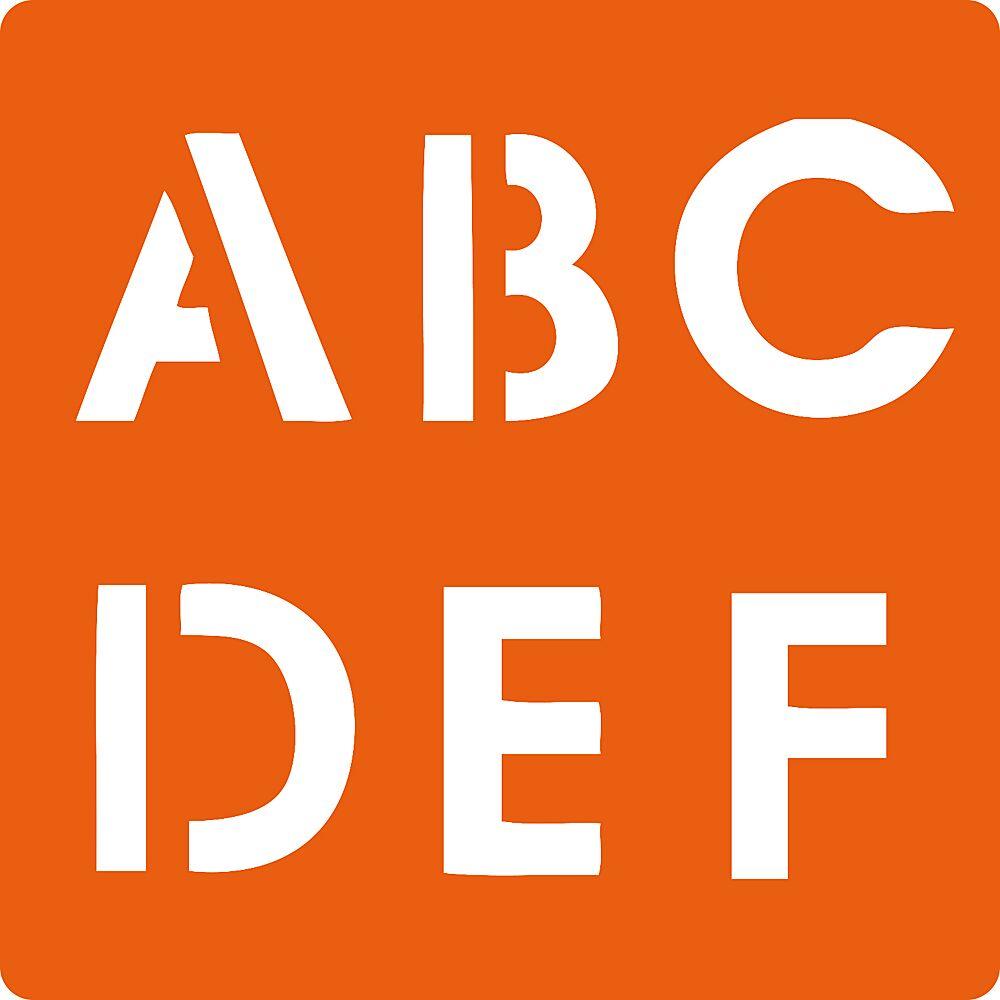 Pochoirs Alphabet Chiffres 4cm Peindre Dessiner Ava Be