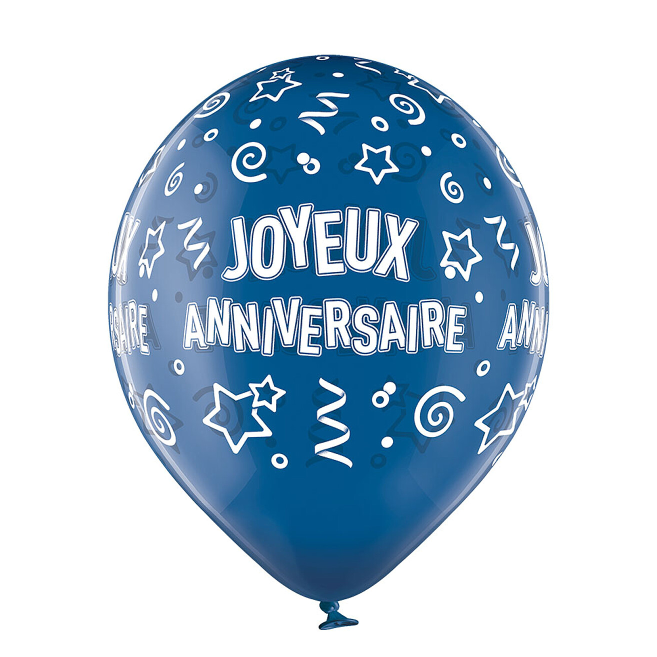 Ballon Transparent 30cm Assortiment Joyeux Anniversaire 6pieces