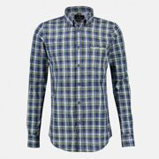 LERROS - HEMD 1/1 ARM - B.D. SPACEDYE CHECK BUTTON DOWN