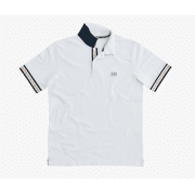 SUN68 POLO STRIPES ON FRONT PLACKET EL.