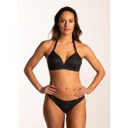 Beachlife - Textured Leo halter bikini dames
