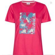 CALVIN KLEIN- T-shirt Slim Fit Floral Box Dames