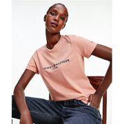 Tommy Hilfiger - Essential T-shirt van biologisch katoen met geborduurde branding Dames