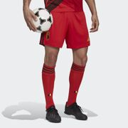 Adidas-Rode Duivels Voetbalshort RBFA H SHO COLRED netto Unisex