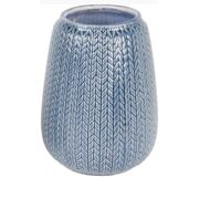 Vase knitted ceramic - Dark blue - large