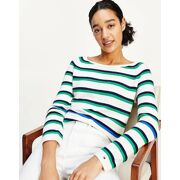 Tommy Hilfiger - Org. Co Stripe Open Pull Dames