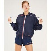 Tommy Hilfiger - Sweater Full Zip Hood Global Dames