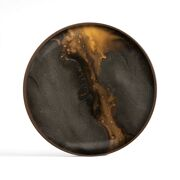 Bronze Organic Glass Valet Tray Round - L