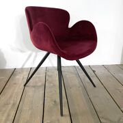 Gaia chair ruby velvet