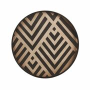 Graphite Chevron Driftwood Tray